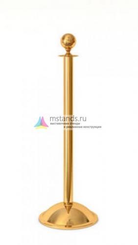 Столбик ограждения с канатом Barrier Classic Silver and Gold