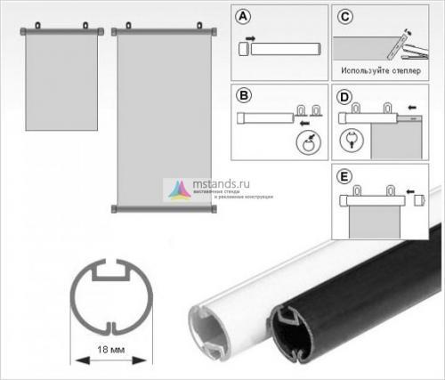 Пластиковый профиль BANNER-RAIL для плакатов