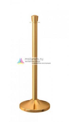 Столбик ограждения с канатом Barrier Classic 09 Silver and Gold