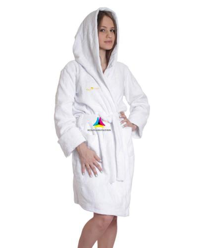 халат махровый женский с капюшоном